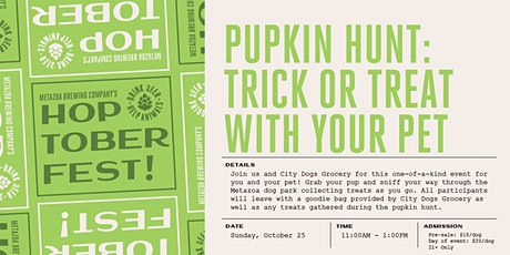 Pupkin Hunt: Trick or Treat With Your Pet! tickets