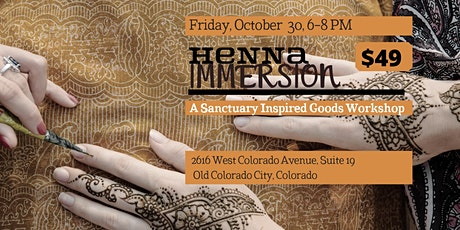 Henna Immersion At Sanctuary Inspired Goods tickets