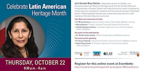 Celebrate Latin American Heritage Month with Senator Rosa Galvez tickets