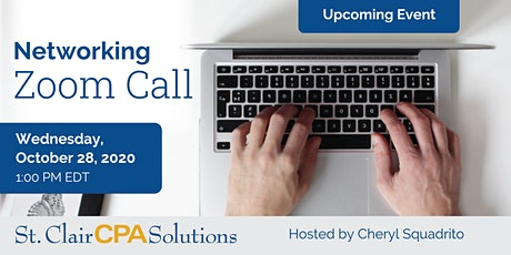 Zoom Networking Call for business professionals sponsored by St. Clair CPAs tickets