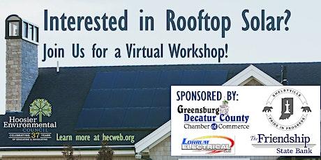 Virtual Solar Workshop - SE Indiana tickets