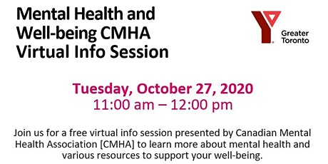 Mental Health and Well-being CMHA Virtual Info Session tickets