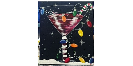 Virtual Holiday Christmas Martini painting party tickets