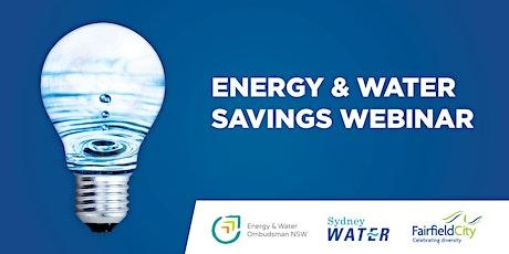 Energy & Water Savings Webinar for Fairfield City Residents tickets