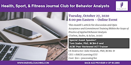 Health, Sport, & Fitness Journal Club for Behavior Analysts (October) tickets