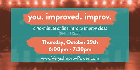 Free Online Intro to Improv Class for Everyday Life - you. improved. improv tickets