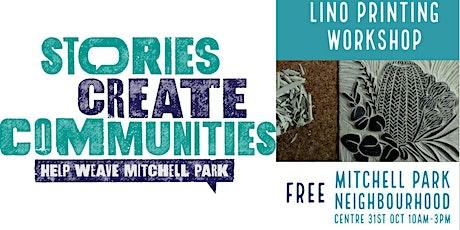 Lino Printing | Help Weave Mitchell Park|Mitchell Park