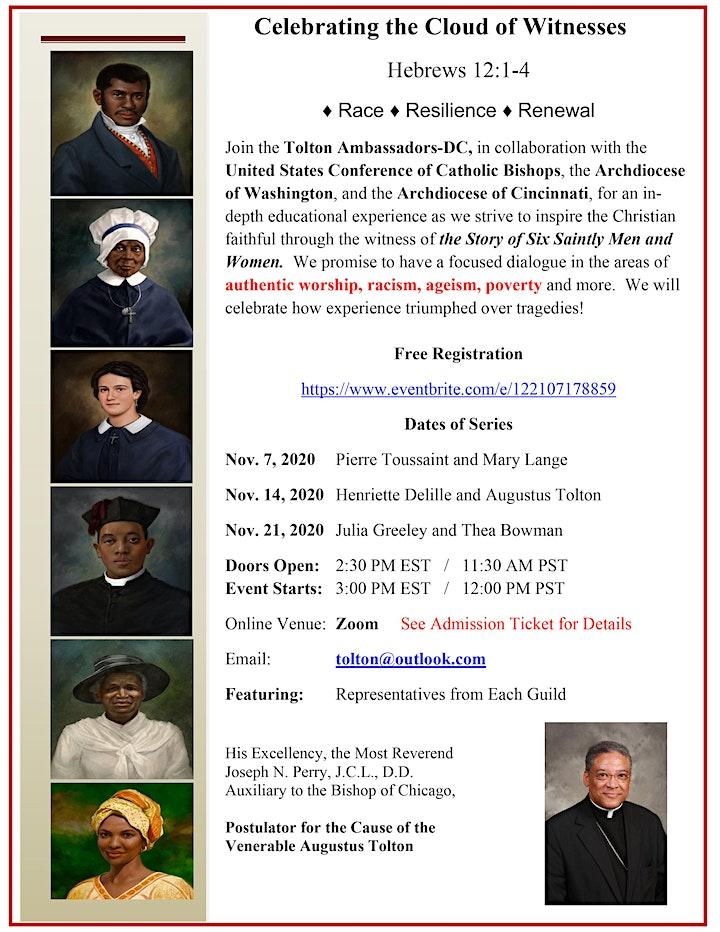 flyer for Black Catholic saint witnesses