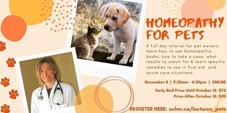 Homeopathy for Pets tickets