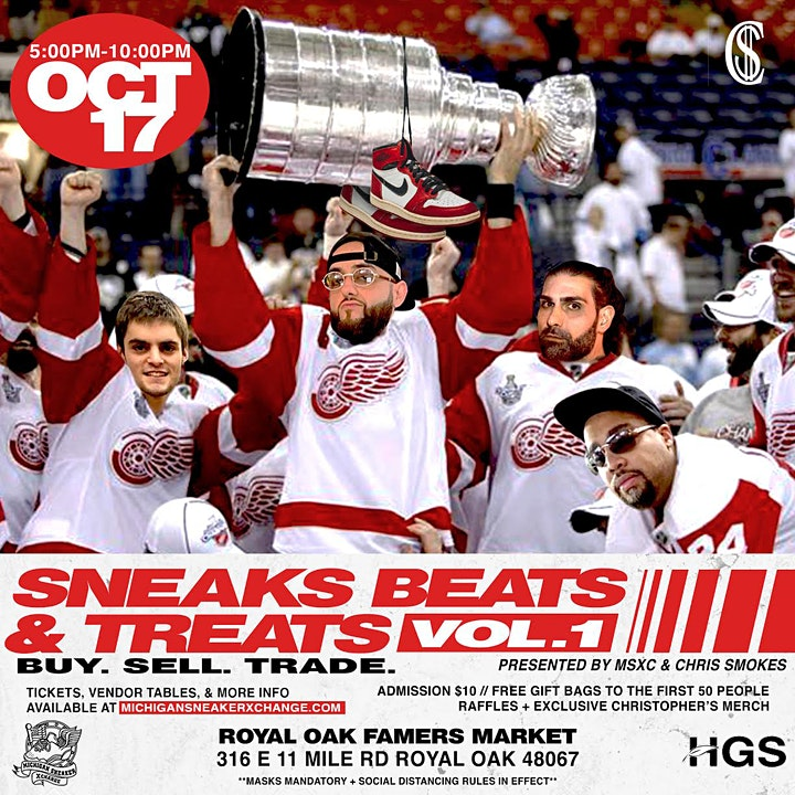 SNEAKS BEATS & TREATS - OCT 17TH 5-10PM PRESENTED BY MSXC & CHRIS SMOKES image