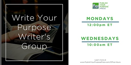 Write Your Purpose Writer's Group: Online Writing Group tickets