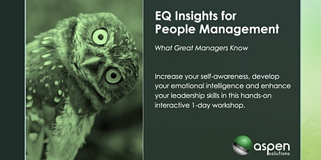 Emotional Intelligence - EQ Insights for People Managers tickets