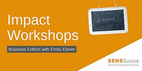 Impact Workshop: Impact for social enterprise management tickets