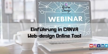 Einführung in Canva - Bildbearbeitungs und Designer Online Tool Tickets