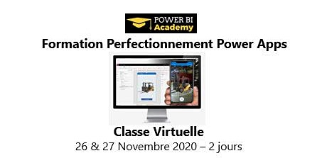 Formation Perfectionnement à Power Apps - 2 jours - 26 & 27 Novembre  2020 billets