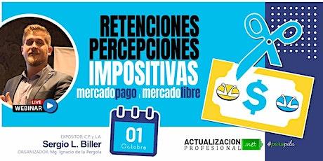 GRABACION Retenciones/Percepciones impositivas en MercadoPago y M.Libre entradas