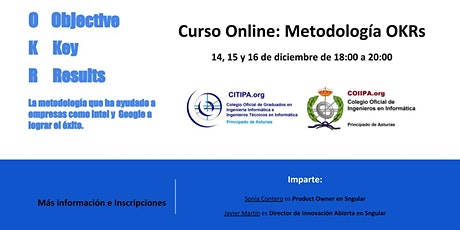 Curso online: Metodología OKRs boletos