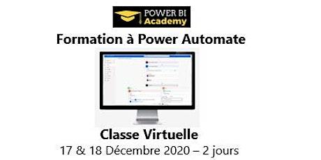 Formation à Power Automate - 2 jours - 17 & 18 Décembre  2020 billets