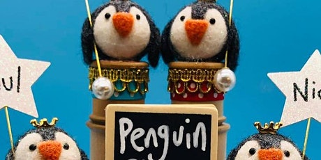 NEEDLE FELTED  PENGUIN PLACECARD tickets