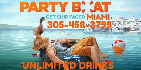 Miami Party Boat - Covid Free - Unlimited drinks tickets