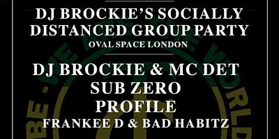 DJ Brockie's Group. Zoom Dance. The online Rave. Poster