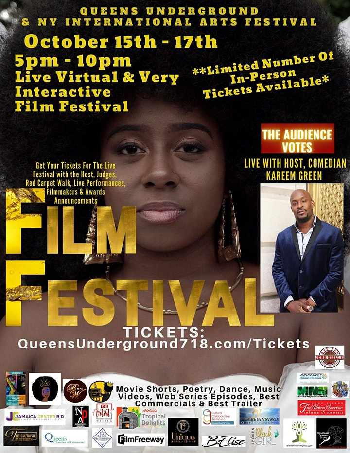 Queens Underground Film Festival - In-Person TICKETS - Limited! 10/15-10/17 image