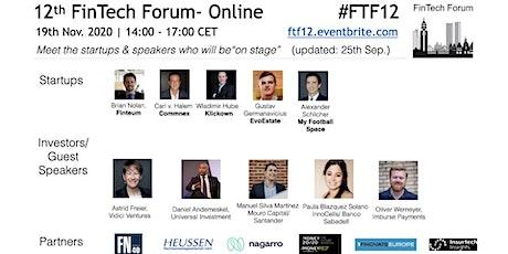 12th FinTech Forum- Online   19th Nov. 2020 tickets