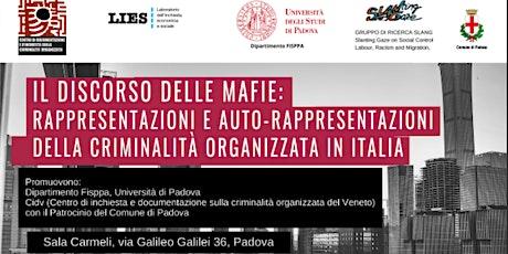 Il discorso delle mafie: Rappresentazioni e auto-rappresentazioni biglietti