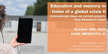 Education and memory in times of a global crisis II Tickets