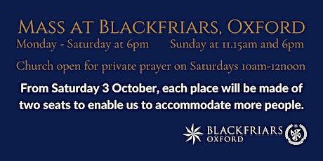 Mass at Blackfriars - Sunday 25 October tickets