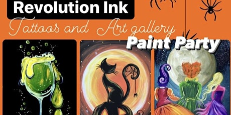 Revolution Ink tattoos and Art gallery Paint Party 2 tickets