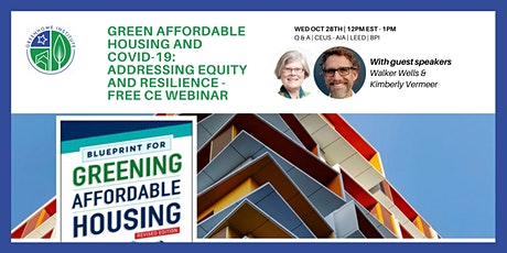 Green Affordable Housing and COVID-19 - Free CE Webinar tickets