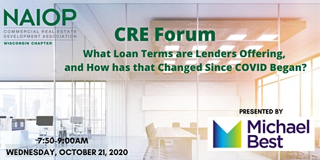 CRE Forum: What Loan Terms are Lenders Offering? tickets