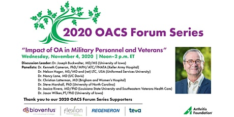 OACS | Impact of OA in Military Personnel and Veterans tickets