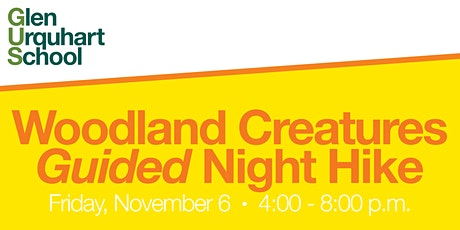 Woodland Creatures Guided Night Hike tickets