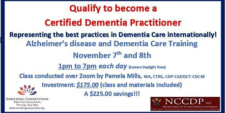 Alzheimer's disease and Dementia Care Training tow tickets