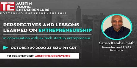 Perspectives and Lessons Learned on Entrepreneurship tickets