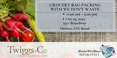 Oct Fill Grab & Go Food Bags for We Don't Waste tickets