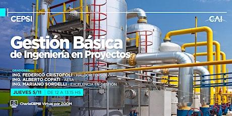 #Charla CEPSI: Gestión Básica de Ingeniería en Proyectos entradas