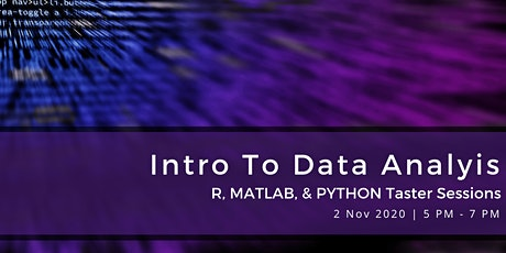 Intro to Data Analysis: R, MATLAB, & Python Taster Sessions tickets