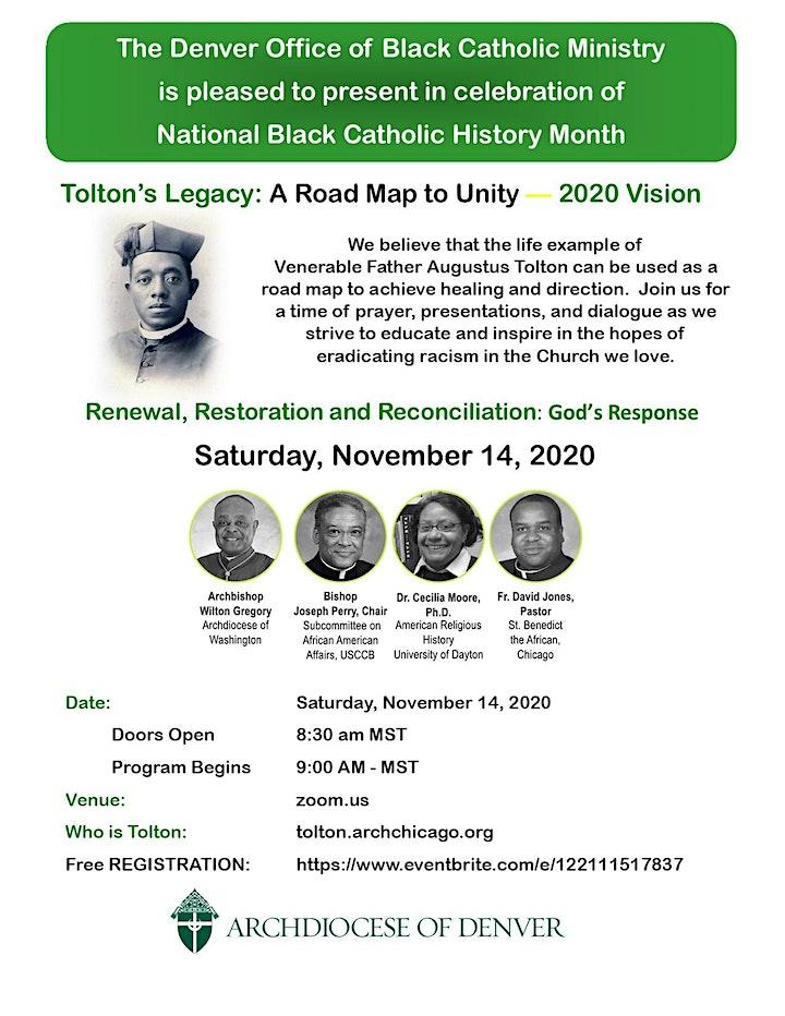 flyer for Fr. Augustus Tolton fundraiser