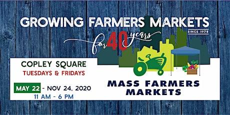 [Friday, October  23, 2020] - Copley Sq Farmers Market Shopper Reservation tickets