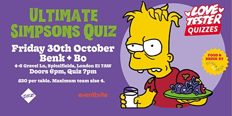 Ultimate Simpsons Quiz tickets