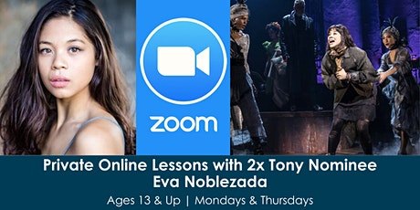 Private Online Lessons with 2x Tony Nominee, Eva Noblezada tickets