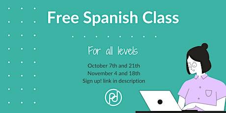 Free Spanish Class tickets