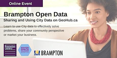 Brampton Open Data: Sharing and Using City Data on GeoHub.ca tickets