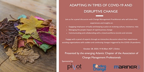 Adapting in Times of COVID-19 and Disruptive Change tickets