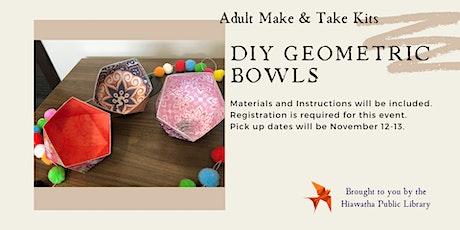 DIY Geometric Bowls tickets