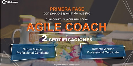 Curso virtual Agile Coach entradas