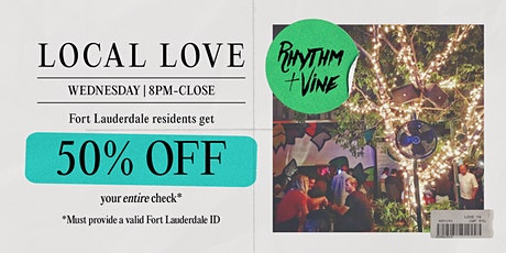 Local Love Wednesdays At Rhythm + Vine tickets
